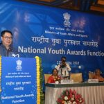 Kiren Rijiju confers the National Youth Awards