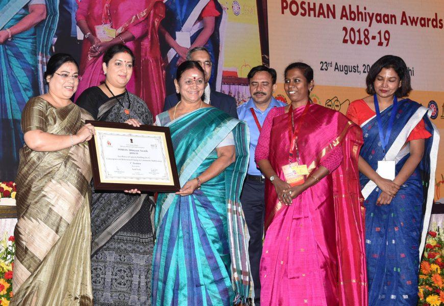 Smriti Zubin Irani confers POSHAN Abhiyaan Awards