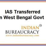 West Bengal IAS Transfers