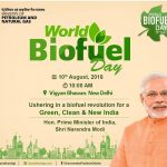 World Biofuel Day to be observed today