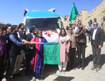 Prahlad Singh Patel flags off the first ever Mobile Science Exhibition