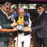 100 YRS old Veteran of 9 GR felicitated