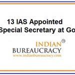 13 IAS appointed as Special Secretary, GoI