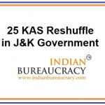 25 KAS Officers Reshuffle in J&K Government