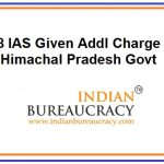 8 IAS given additional charge in Himachal Pradesh