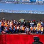 Ceremony for commissioning infrastructure facilities constructed to support proposed oil refinery project in Mongolia