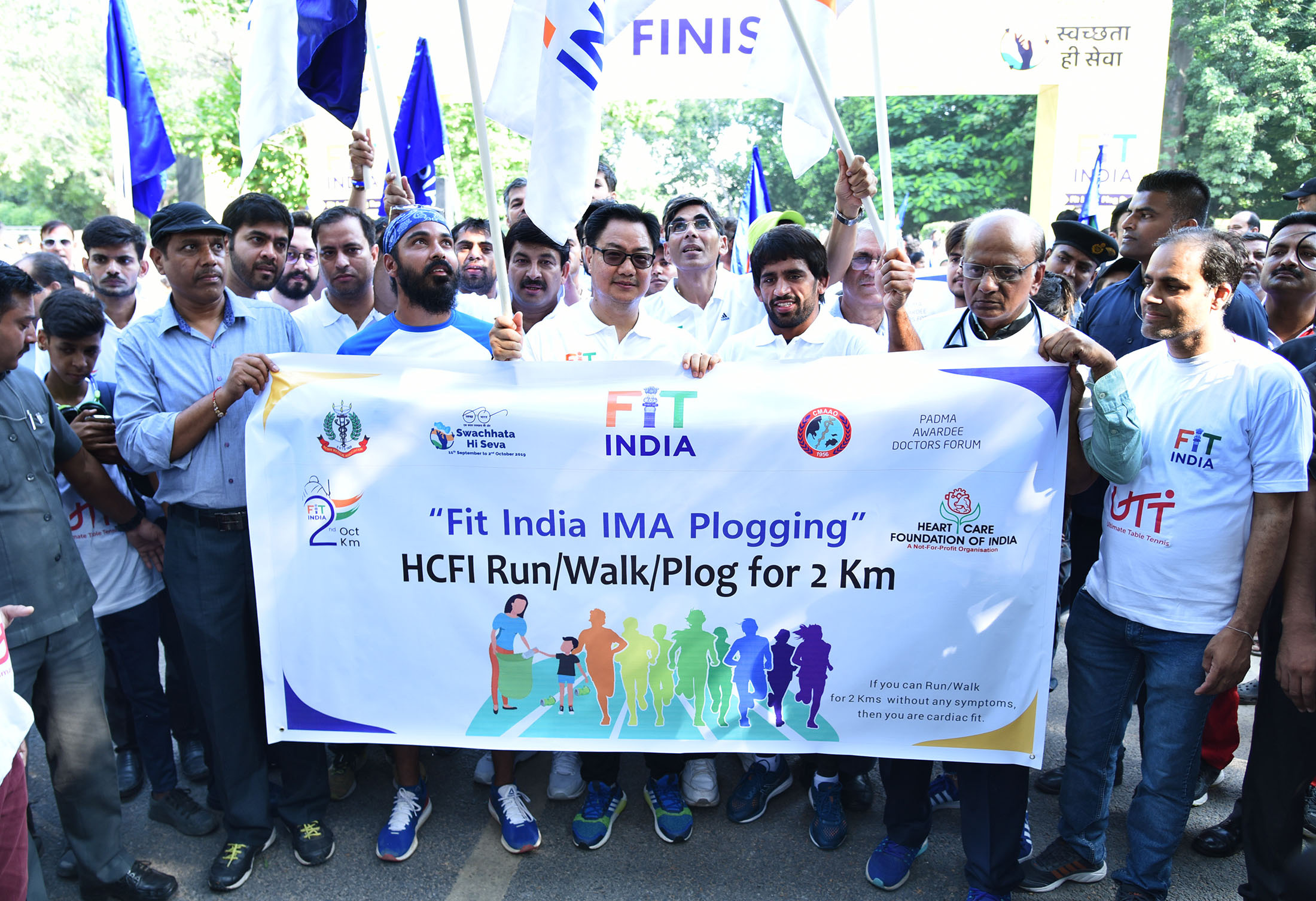 Kiren Rijiju flags off 'Fit India Plog Run' at Indira Gandhi Stadium
