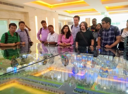 NIUA delegation visited NBCC East Kidwai Nagar PROJECT