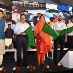 Piyush Goyal, Dr. Harsh Vardhan, Smt. Harsimrat Kaur Badal flags off the Train No. 22479