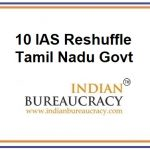 10 IAS Transfer in Tamil Nadu Govt