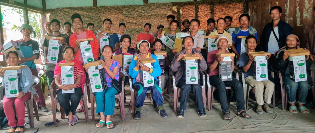 Distribution of Solar Lantern at Village Mongbung by Indian Army
