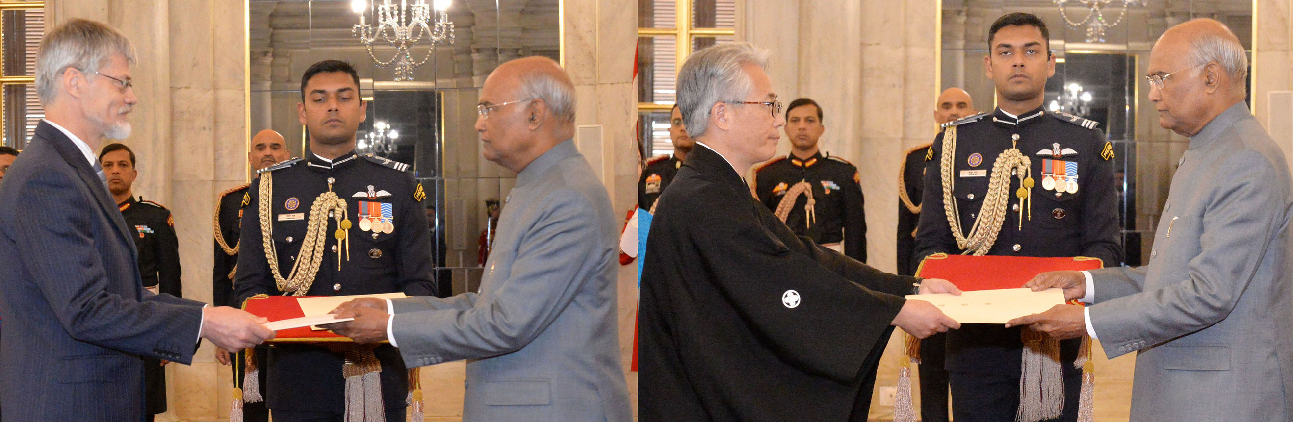Envoys of 2 Nations present their Credentials to President of India