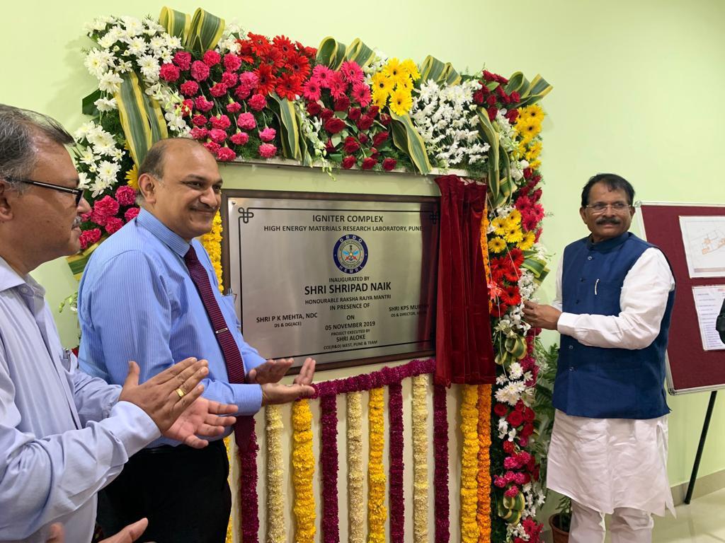 Raksha Rajya Mantri Shri Shripad Naik inaugurates DRDO's Igniter Complex at HEMRL, Pune