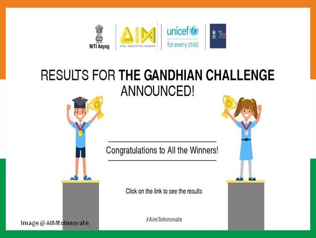 Winners of the Gandhian Challenge announced; 30 children awarded