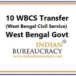 10 WBCS Tranfer in West Bengal Govt