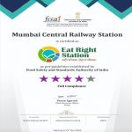 """Mumbai Central station of Indian Railways conferred with """"Eat Right Station"""