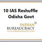 10 IAS Transfer in Odisha Govt