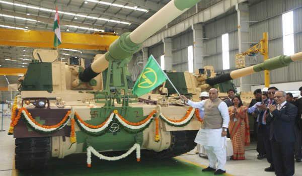 Raksha Mantri flags off 51st K9 VAJRA-T Gun from L&T Armoured System Complex