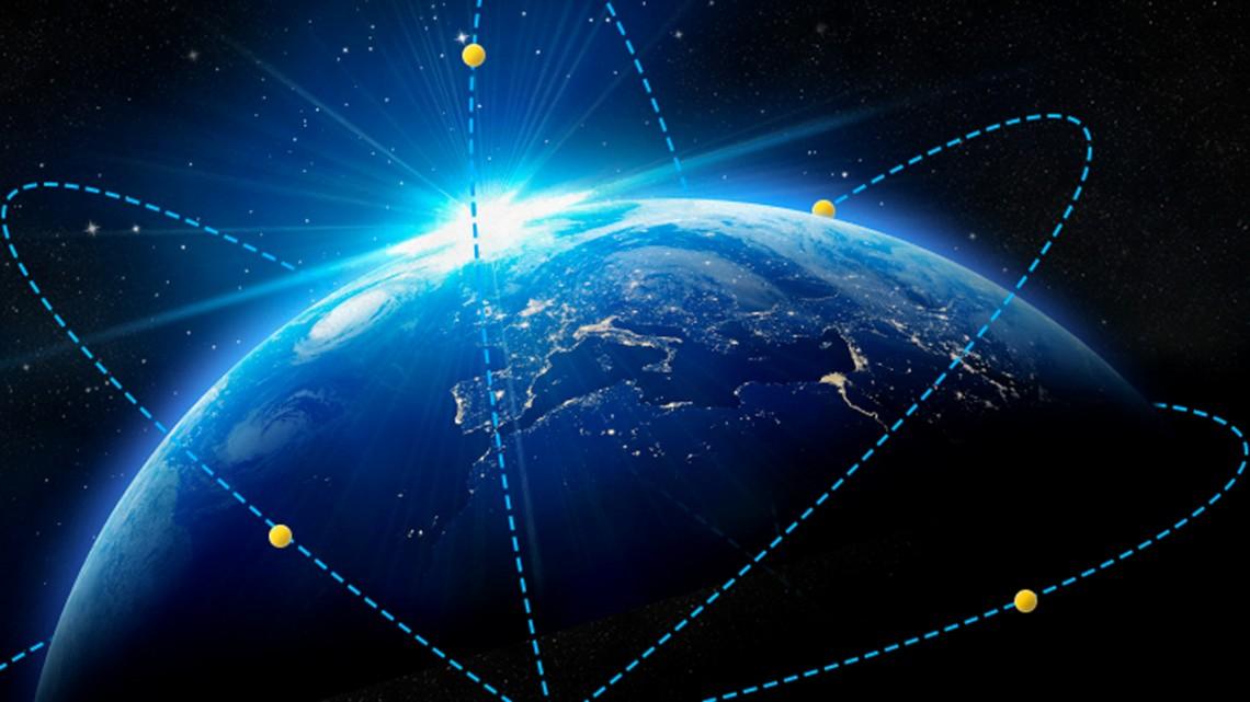 Satellite constellations harvest energy for near-total global coverageSatellite constellations harvest energy for near-total global coverage