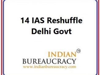 14 IAS Transfer in Delhi Govt