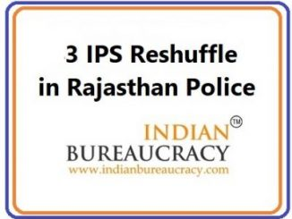 3 IPS Reshuffle in Rajasthan Police
