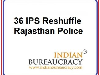 36 IPS Transferred in Rajasthan Police