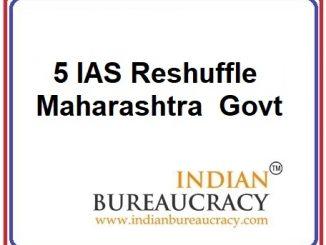 5 IAS Transfer in Maharashtra Govt
