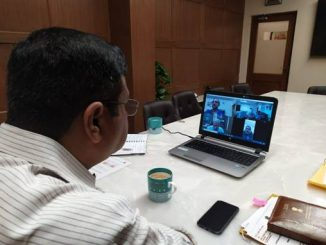 Dharmendra Pradhan conducts video conference with CMDs of PSUs