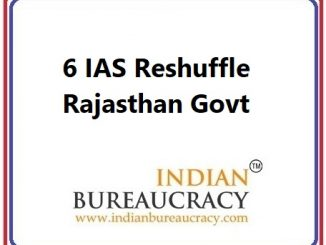 6 IAS Reshuffle in Rajasthan Govt